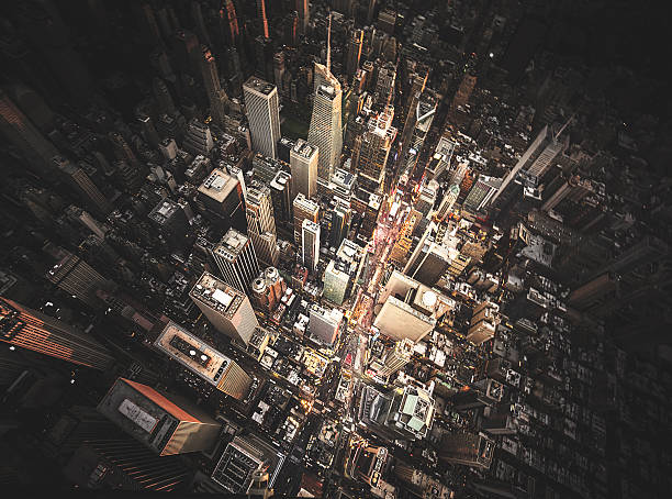 new york city aerial view of the downtown:スマホ壁紙(壁紙.com)