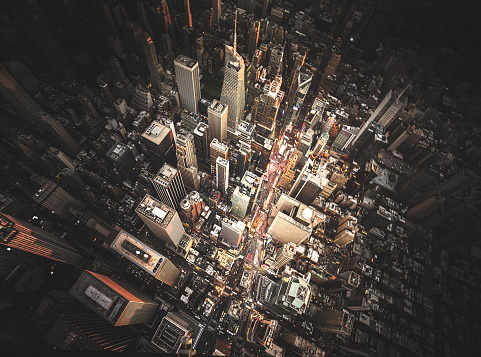 旅行「new york city aerial view of the downtown」:スマホ壁紙(2)