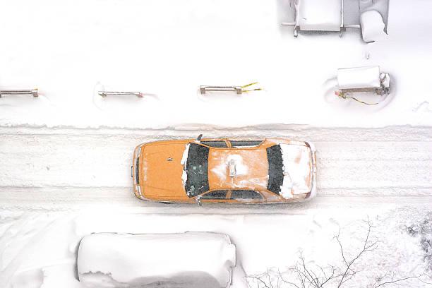 New York City taxi driving in blizzard, aerial:スマホ壁紙(壁紙.com)