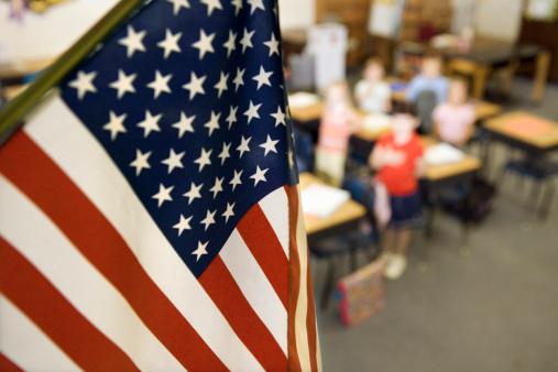 Flag「American flag in classroom」:スマホ壁紙(12)