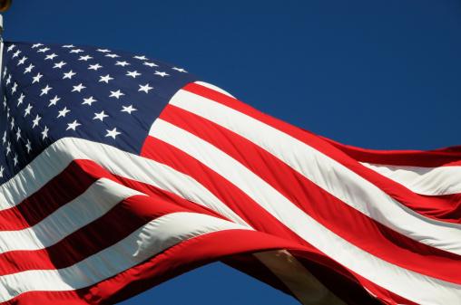星空「アメリカ国旗の屋外」:スマホ壁紙(10)