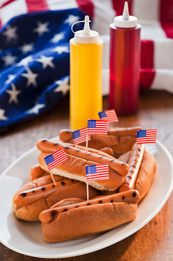 Fourth of July「American flags in hot dogs」:スマホ壁紙(19)