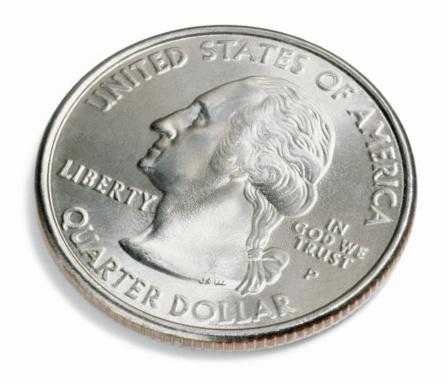 米国硬貨「U.S. quarter of a dollar」:スマホ壁紙(11)