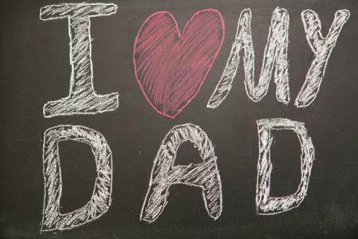父親「I love my dad message drawn on blackboard with chalk」:スマホ壁紙(18)