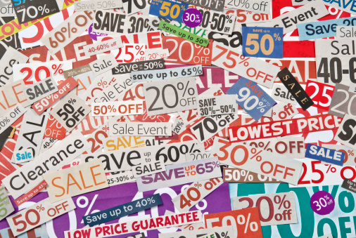 Coupon「Sale signs, newspaper and flyers clippings - XXVII」:スマホ壁紙(10)