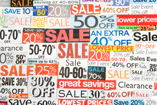 Coupon「Sale signs, newspaper and flyers clippings - I」:スマホ壁紙(16)