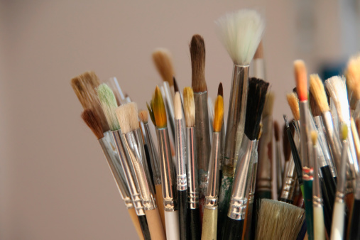 Painter - Artist「Brushes Detail」:スマホ壁紙(15)