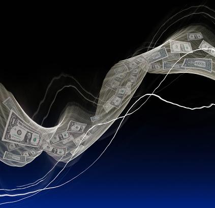 Digital Composite「Digital Money Flow」:スマホ壁紙(14)