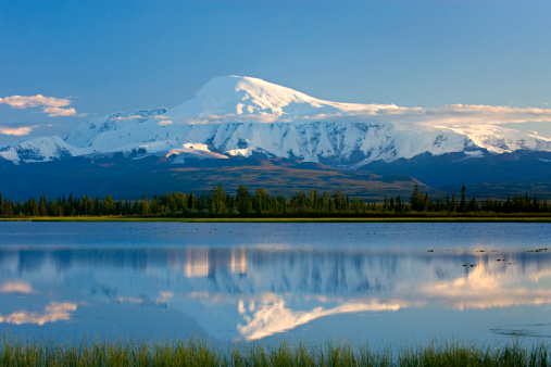 アラスカ「Mount Sanford; 16,237 ft (4,949ám) Wrangell-St. Elias National Park, Alaska. USA」:スマホ壁紙(19)