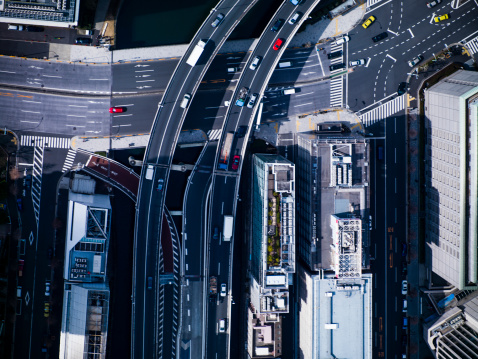 Tokyo - Japan「The crossing way of Nihonbashi in Tokyo」:スマホ壁紙(3)