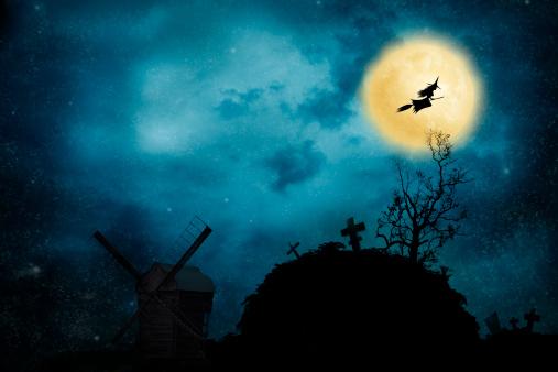 魔術師「魔女乗馬、ブルーム」:スマホ壁紙(12)