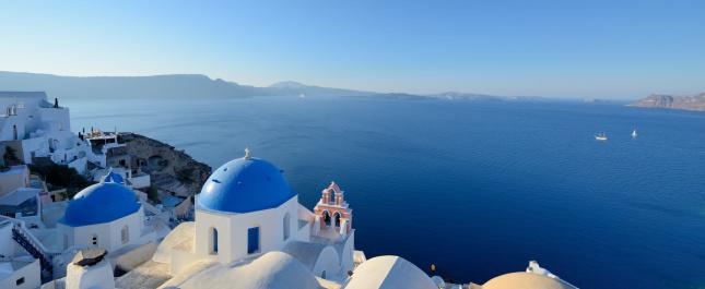 Aegean Sea「Santorini island」:スマホ壁紙(13)