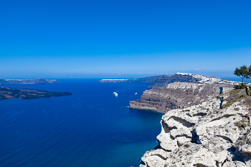 Caldera「santorini island caldera view, the cyclades, greece」:スマホ壁紙(10)