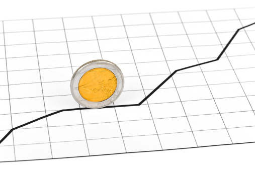仕事運「Rolling coin and diagram」:スマホ壁紙(17)