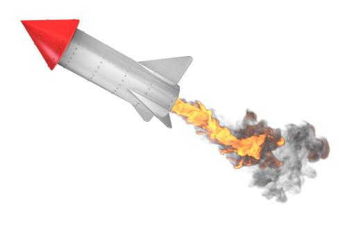 Cartoon「Off like a rocket」:スマホ壁紙(0)