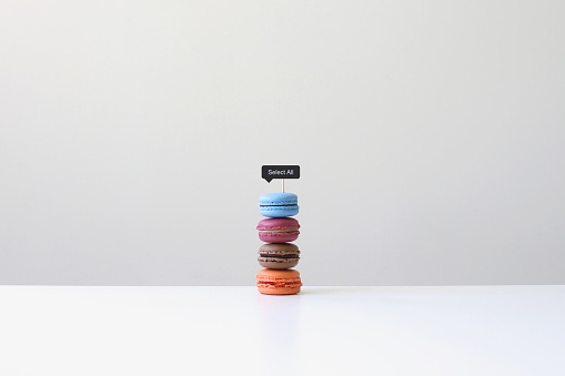 Cake「Macaroons with a select all sign」:スマホ壁紙(19)
