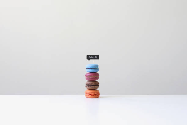 Macaroons with a select all sign:スマホ壁紙(壁紙.com)