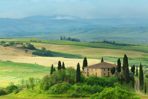 Val d'Orcia「Farm in Tuscany」:スマホ壁紙(18)
