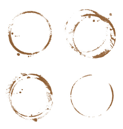 Sepia Toned「Four Coffee Cup Stains」:スマホ壁紙(2)