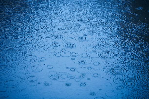 Raindrops rippling on water:スマホ壁紙(壁紙.com)