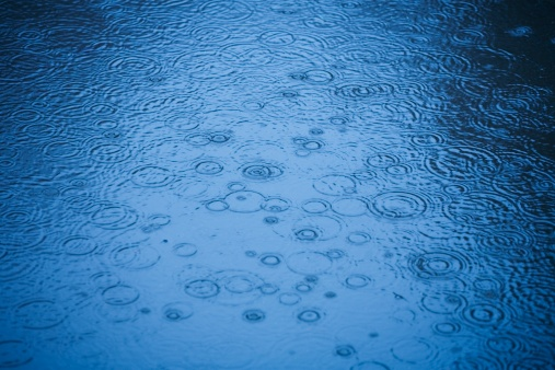 Rain「Raindrops rippling on water」:スマホ壁紙(6)