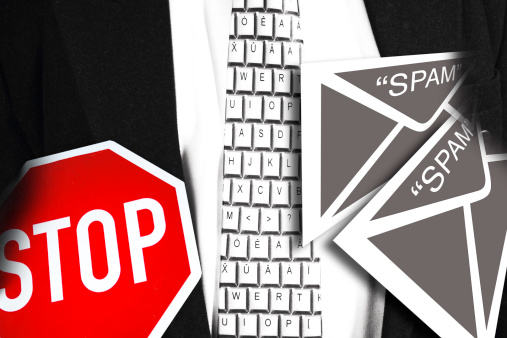 Receiving「Spam email and stop sign, composing」:スマホ壁紙(9)