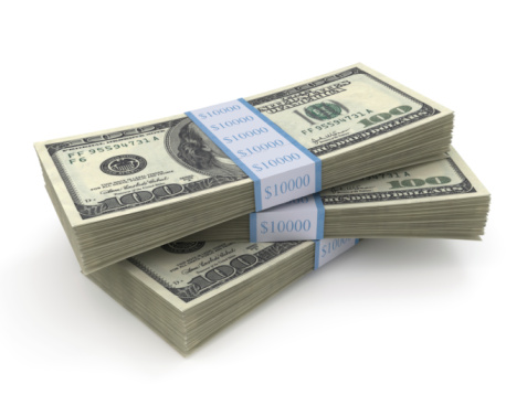 Number 100「Stack of three bundles of $100 bills」:スマホ壁紙(7)
