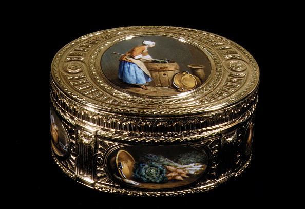 Black Background「Snuffbox With Kitchen Scenes」:写真・画像(6)[壁紙.com]