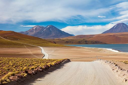 Volcano「Laguna Miscanti located in Atacama desert at 4,140m altitude, Chile, January 19, 2018」:スマホ壁紙(12)