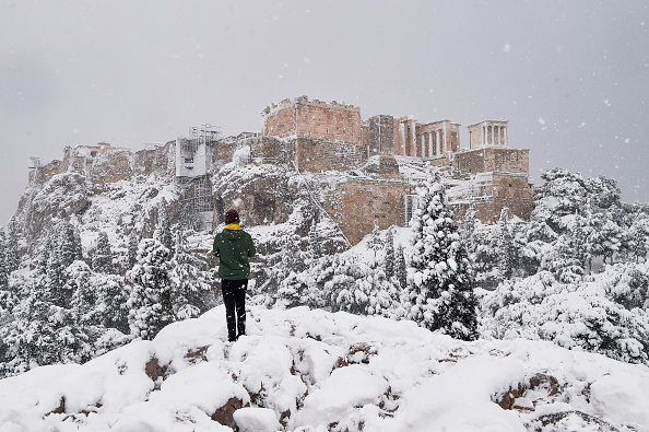 Greece「Rare Snow Halts Athens」:写真・画像(11)[壁紙.com]