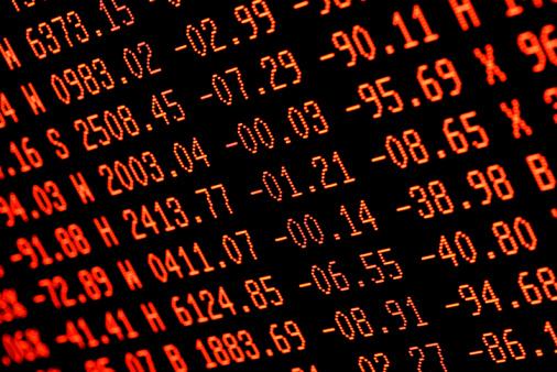 Deterioration「stock market crash - red trading screen numbers」:スマホ壁紙(18)