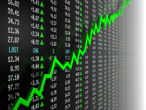 Stock Market Data「Stock market data with uptrend vector」:スマホ壁紙(18)
