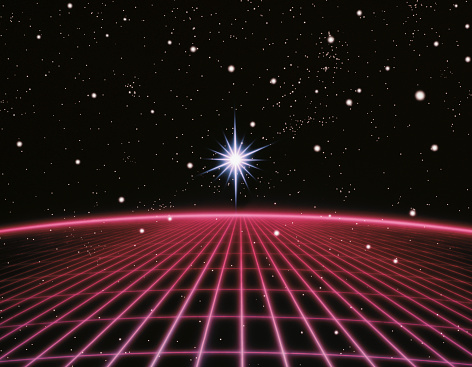 Grid Pattern「Starburst over grid」:スマホ壁紙(14)