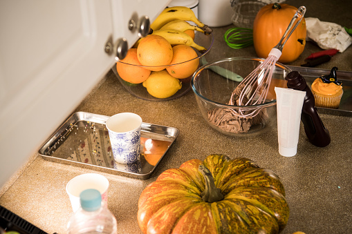 野菜・フルーツ「お菓子を作るのテーブル。」:スマホ壁紙(16)
