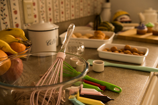 野菜・フルーツ「お菓子を作るのテーブル。」:スマホ壁紙(14)