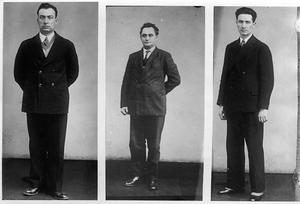 Arson「From left to right: Vasil Tanev Konstantinoff, George Dimitrov, Popov Blagoi Siminoff. Alleged suspects in the case of arson in the Reichstag. Berlin. Germany. Photography. About 1933. (Photo by Imagno/Getty Images) Von lnks nach rechts: Wassil Konstantino」:写真・画像(7)[壁紙.com]