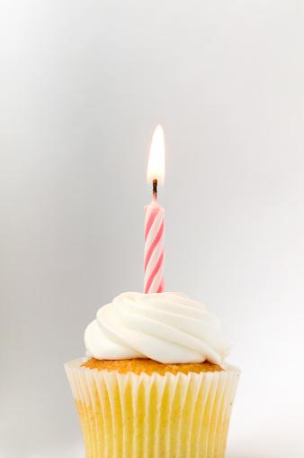 Cupcake「Cupcake with birthday candle」:スマホ壁紙(9)