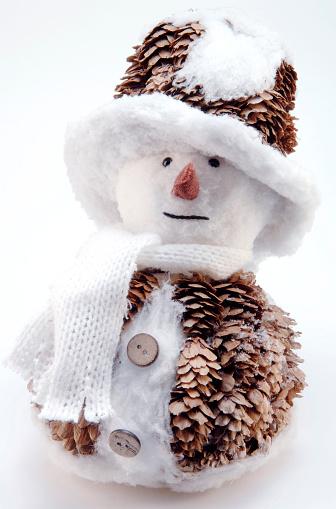 雪だるま「Little fir cone snowman」:スマホ壁紙(17)