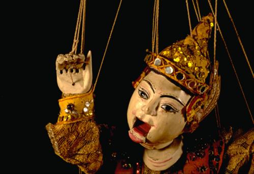 Marionette「Burmese marionette against black background」:スマホ壁紙(6)