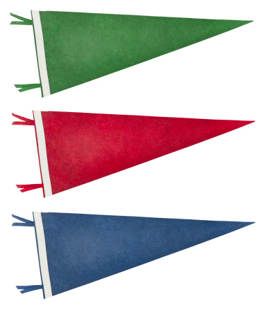 Triangle Shape「Isolated Retro Pennants (with Clipping Path)」:スマホ壁紙(7)