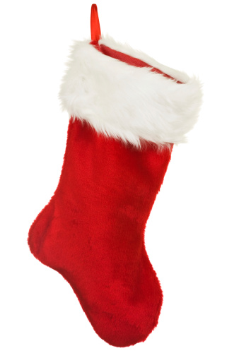Red「Isolated Red Christmas Stocking A Holiday Ornament」:スマホ壁紙(1)