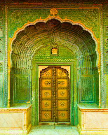 Rajasthan「Door in City Palace, Jaipur, India」:スマホ壁紙(15)