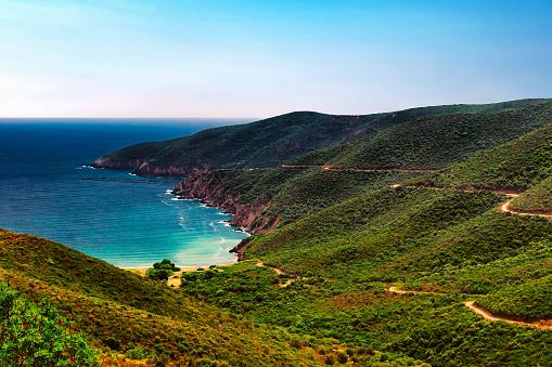 White Color「ビーチと海の海岸。マンバ ビーチ、シトニア、半島ハルキディキ、ギリシャ。」:スマホ壁紙(1)