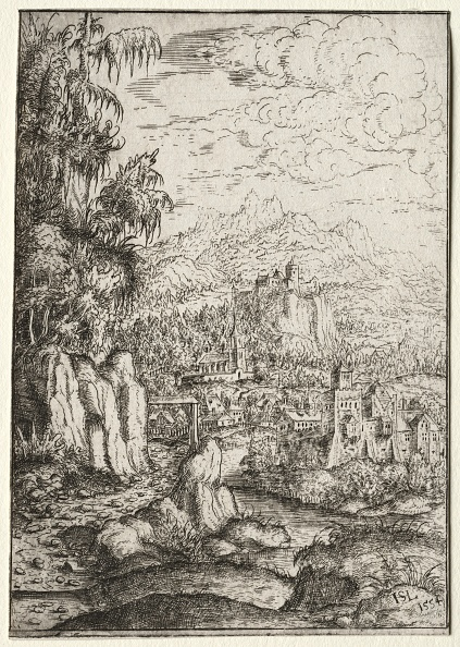 Etching「Landscape With A Road To A Castle On An Island In A River」:写真・画像(0)[壁紙.com]