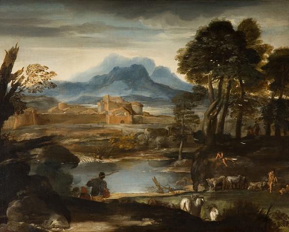 風景「Landscape With A Lake And A Walled Town」:写真・画像(7)[壁紙.com]