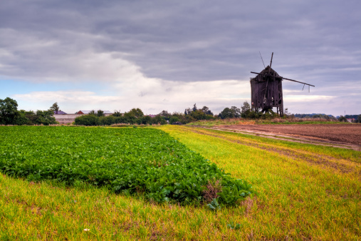 High Dynamic Range Imaging「Landscape with the old wooden windmill」:スマホ壁紙(1)