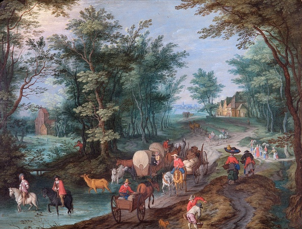 Water's Edge「Landscape With Figures Crossing A Brook,」:写真・画像(5)[壁紙.com]