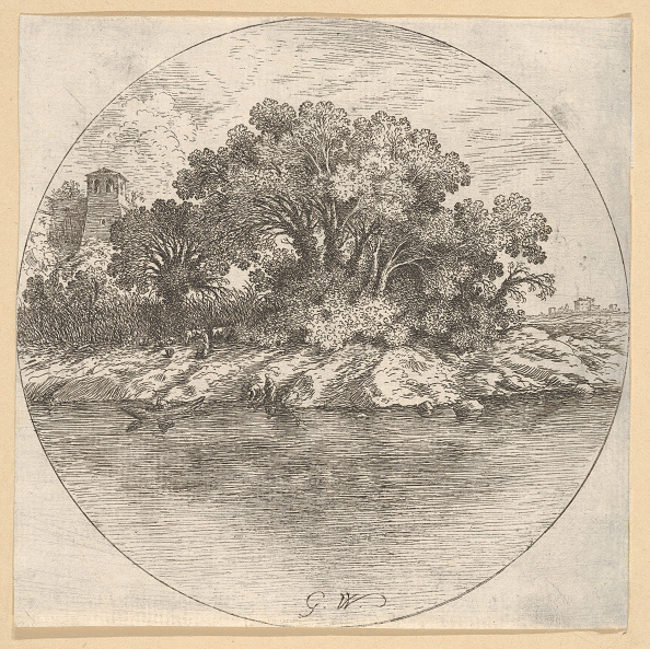 Water's Edge「Landscape With Trees By The Water by  Goffredo Wals」:写真・画像(9)[壁紙.com]