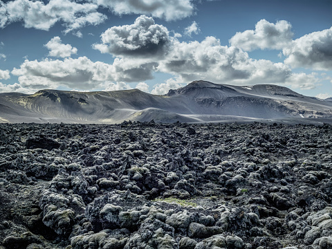 Lava「Landscape with mountains and lava field, Iceland」:スマホ壁紙(7)