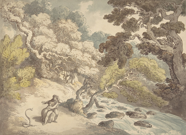 Water's Edge「Landscape With Rushing Stream And A Couple On The Bank」:写真・画像(14)[壁紙.com]